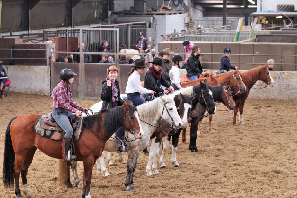 Groepsles, Flaming Star Ranch, België